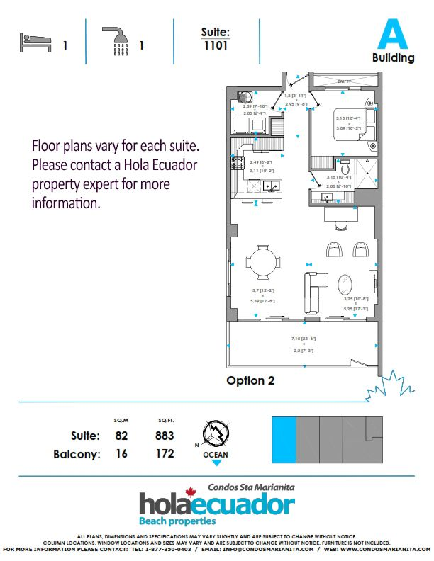 Santa Marianita Floor Plan - Model 1
